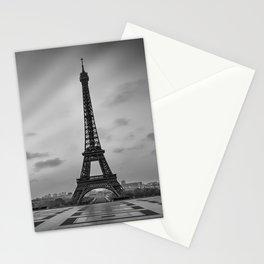 Eiffel Tower at Sunrise | Monochrome Stationery Cards