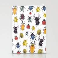 bugs Stationery Cards featuring Bugs by Marina Eiro