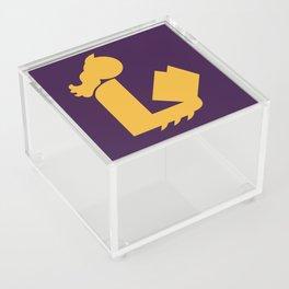 Lady Bat Reads Acrylic Box