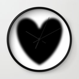 Heart evanescent Black Wall Clock