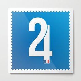 Stamp series - 24 Le mans Metal Print