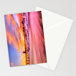 Dawn High Tide Huntington Beach Pier Stationery Cards