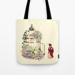 Lady Hummingbird Tote Bag