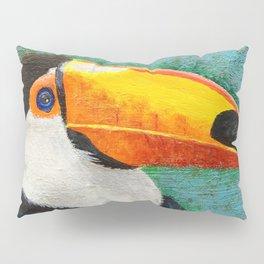 Colorful Toucan portrait Pillow Sham