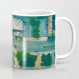 The City From Above (Color) Coffee Mug
