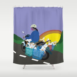 Transporting Geese Shower Curtain