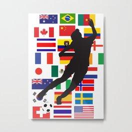 24 teams - WWC Metal Print
