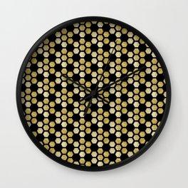 Golden Honeycomb Wall Clock