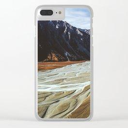 Glacier Runoff Clear iPhone Case