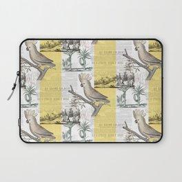 Vintage Tropical Cockatoo Pattern Laptop Sleeve