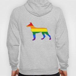 Rainbow Doberman Hoody