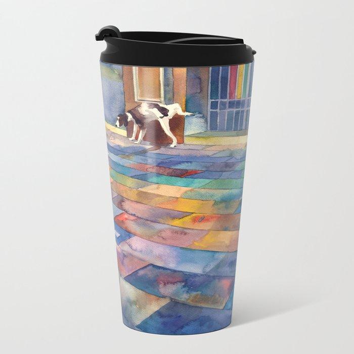 Dog and the city Metal Travel Mug