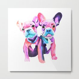 Two Frenchies Metal Print