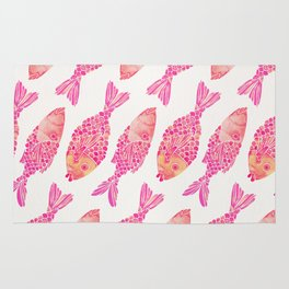 Indonesian Fish Duo – Pink Palette Rug