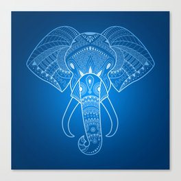 Serious Elephant Two Canvas Print
