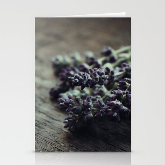 Cut Lavender Stationery Cards