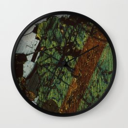 Pyroxene and Feldspar Wall Clock