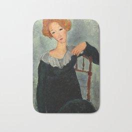 "Amedeo Modigliani ""Woman with Red Hair"" (1917) Bath Mat"