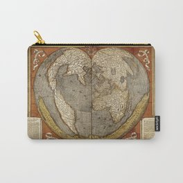 Heart-shaped projection map Carry-All Pouch