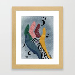 psychedelic touch Framed Art Print