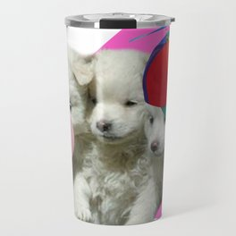 Retro Cerberus puppy Travel Mug