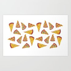 Pizza Pattern Art Print