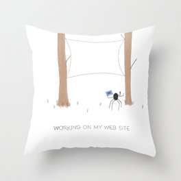 Daily Routine of Web Designers Throw Pillow