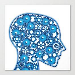 blue head Canvas Print