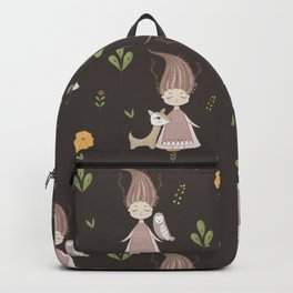 Woodland Nymph - Brown Backpack
