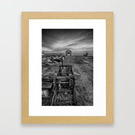Winched Fishing Boats Framed Art Print