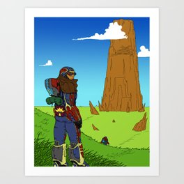 The Hike Art Print