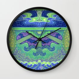 Dream of the fullmoon (mirrored version) Wall Clock