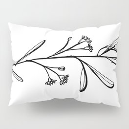 Gum Tree Branch with Blossom by Jess Cargill Pillow Sham