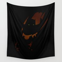 panther Wall Tapestries featuring The Panther by Lily's Factory