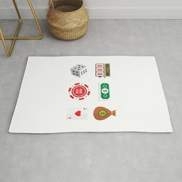 Cash, Slots, Chips, Dice & Cards Nevada Day Rug