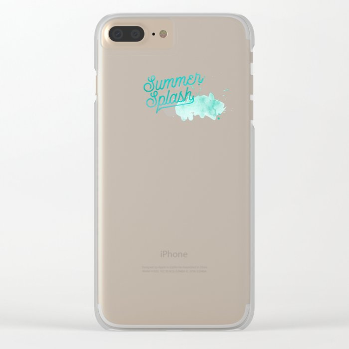 Summer splash- Typography - Holiday Beach Maritime Fun Water Clear iPhone Case