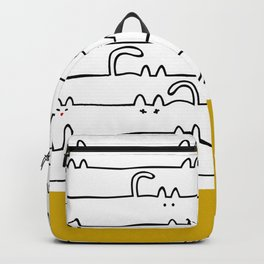 yellow meouw Backpack
