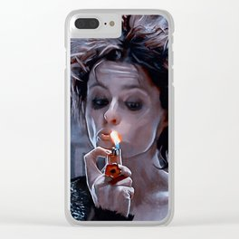 Marla Singer Smoking A Cigarette Clear iPhone Case