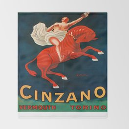 Vintage poster - Cinzano Vermouth Torino Throw Blanket