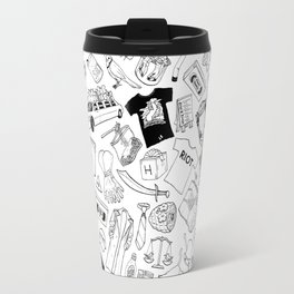 It's Always Sunny Illustration Pattern Travel Mug