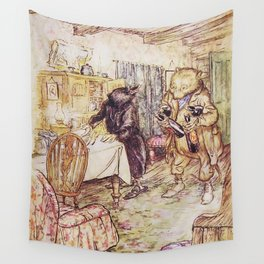 Wind in the willows ratty and mole Wall Tapestry