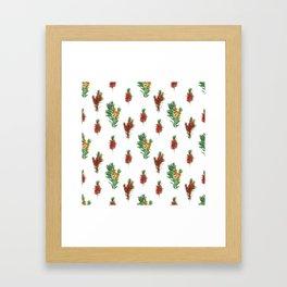 Beautiful Australian Native Floral Pattern Framed Art Print
