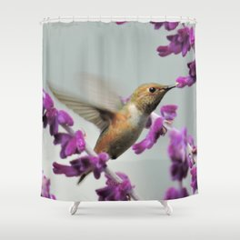 Slipping in for Another Sip Shower Curtain