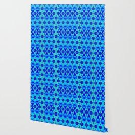 Rhombic blue pattern Wallpaper