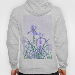 purple iris watercolor Hoody