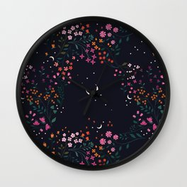 Midnight Garden Wall Clock