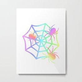 Pastel Spider And Web Metal Print