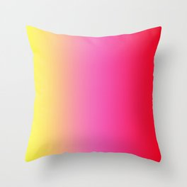 Red Pink Yellow Gradient Throw Pillow