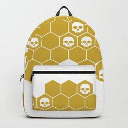Honey Skulls - White Backpack