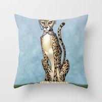 goth Throw Pillows featuring Goth Cheetah by Sinccolor
